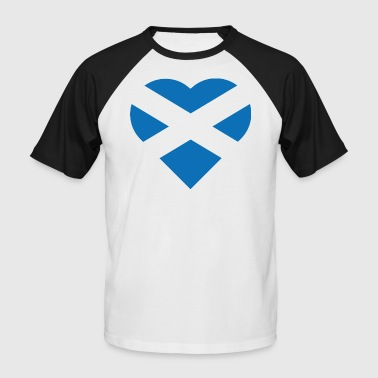 Flag of Scotland - The Saltire - heart shape - Men's Baseball T-Shirt