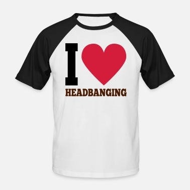 Headbanging J'aime Headbanging - T-shirt baseball manches courtes Homme