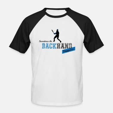 Backhand Tennis Backhand - Men's Baseball T-Shirt
