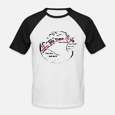 Life Extending Globe - Life Time - the goal extended game - Men's Baseball T-Shirt