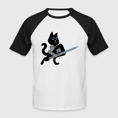 cat knight / chivalry Cat - Men's Baseball T-Shirt