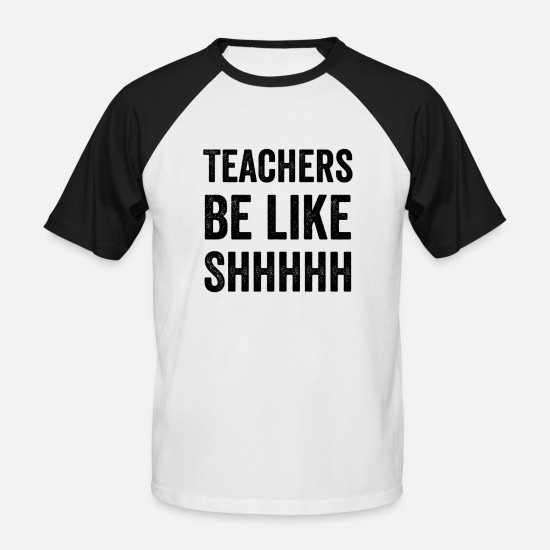 Gift Idea T-Shirts - Teacher classroom chalk lesson gift - Men's Baseball T-Shirt white/black