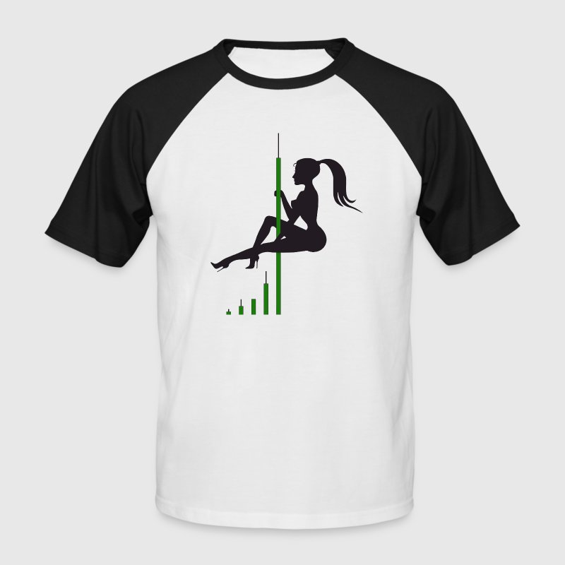 Bitcoin Candle Dance - Men's Baseball T-Shirt