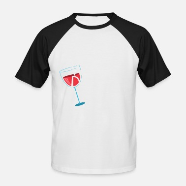 Dine Wine it - Dine it - Men's Baseball T-Shirt