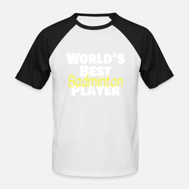 Racket Sport Badminton badminton racket sports net racket - Men's Baseball T-Shirt