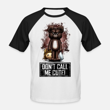 Halloween Teddy - Don't Call Me Cute (Color) - Männer Baseball-T-Shirt