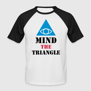 MIND THE TRIANGLE - ILLUMINATI - Miesten lyhythihainen baseballpaita