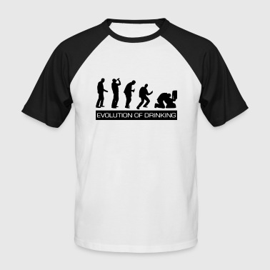 Spoof Evolution of Drinking - Men's Baseball T-Shirt