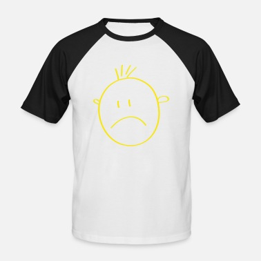 Jaune Smiley smiley jaune - T-shirt baseball manches courtes Homme