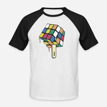 Ice Rubik's Cube Ice Lolly - Men's Baseball T-Shirt