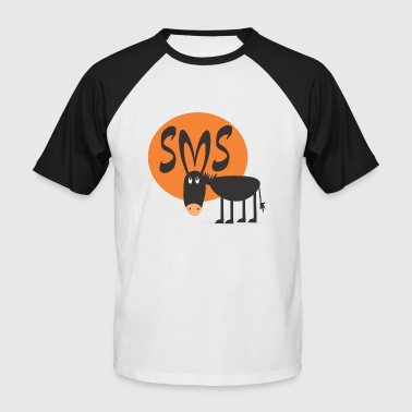 Citations Sms SMS Jackass - T-shirt baseball manches courtes Homme