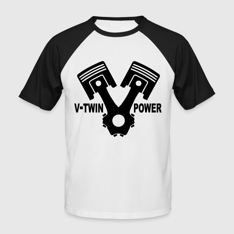 v-twin power vector design 02 - Men's Baseball T-Shirt