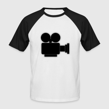 Movie Camera Camera Icon Camera Roll Movie - Men's Baseball T-Shirt