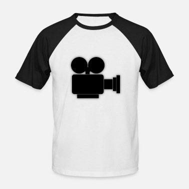 Camera Icon Camera Icon Camera Roll Movie - Men's Baseball T-Shirt