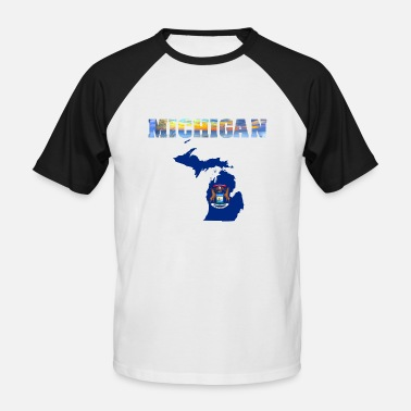 Michigan Michigan - Men's Baseball T-Shirt