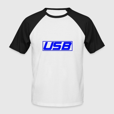 USB - T-shirt baseball manches courtes Homme