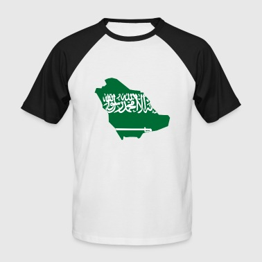 Flag map of Saudi Arabia - Men's Baseball T-Shirt
