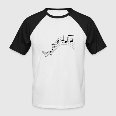 Notes de musique, musique, notes - T-shirt baseball manches courtes Homme