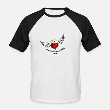 Angelwings angel heart 1 - T-shirt baseball manches courtes Homme