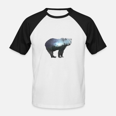 Nature Lover Bear bear gift nature nature lover mountains forest - Men's Baseball T-Shirt