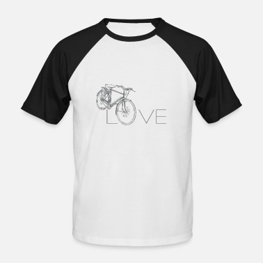 I Love Cycling LOVE | I love cycling - Men's Baseball T-Shirt