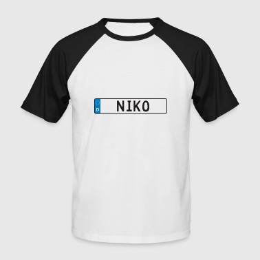 Gift First name Registration Niko - Men's Baseball T-Shirt