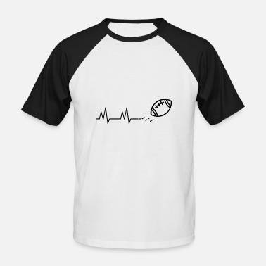 Dline Football is Life - Männer Baseball-T-Shirt