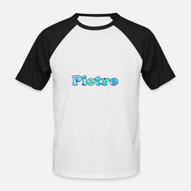 Pietro Nom: Peter - T-shirt baseball manches courtes Homme
