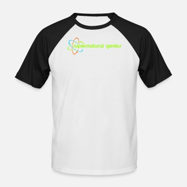 Quantum Jump supernatural genius - green font - Men's Baseball T-Shirt