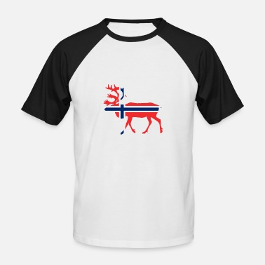 Norway Reindeer Nation Design Norway Reindeer qd7 - Men's Baseball T-Shirt