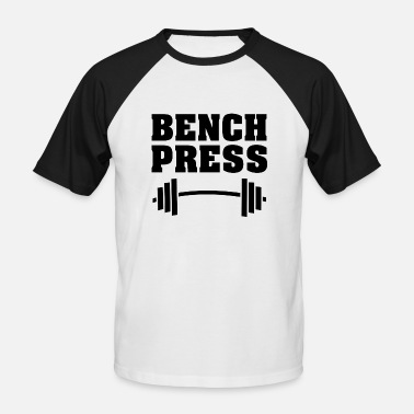 Benkpress benkpress - Baseball T-skjorte for menn