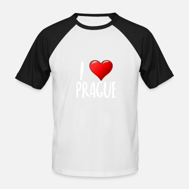 I Love Prague - Männer Baseball T-Shirt