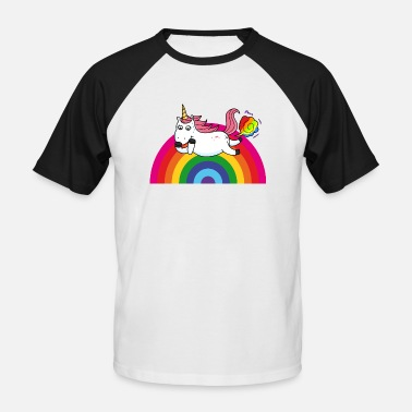 Fart Rainbow Farting unicorn rainbow - Men's Baseball T-Shirt