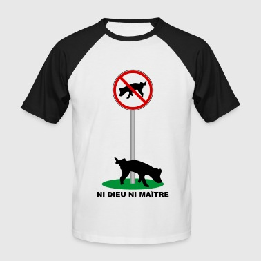 Humour Canin - T-shirt baseball manches courtes Homme