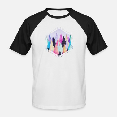 Geometric  Hipster triangles (geometry) Abstract Mountains  - Men's Baseball T-Shirt