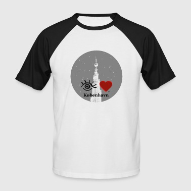 I Love Copenhagen Eye-Love 'Copenhague - Erlöserkirche' - T-shirt baseball manches courtes Homme