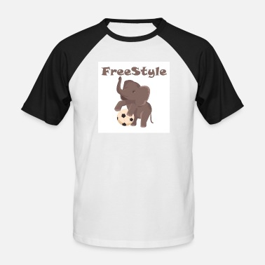 Freestyle Football Freestyle elephant with football - Men's Baseball T-Shirt