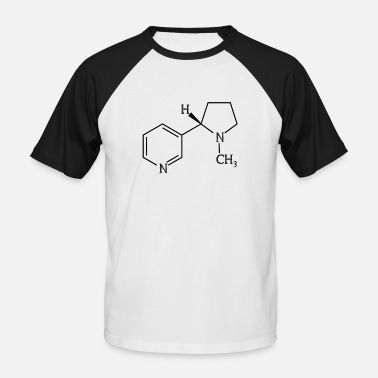 Chemical Elements Nicotine cigarette - Men's Baseball T-Shirt