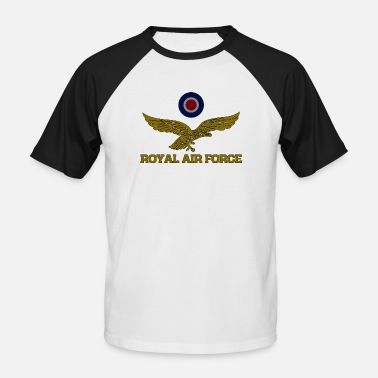 Royal Air Force Royal Air Force Roundel und Adler gedämpftes T-Shirt - Männer Baseball-T-Shirt