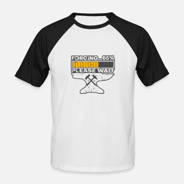 Enclume Enclume Forge Forge Anvil - T-shirt baseball manches courtes Homme