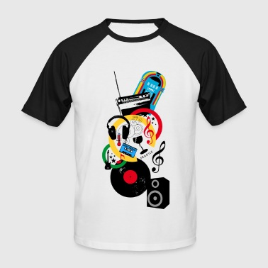 Music design - T-shirt baseball manches courtes Homme