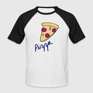 Pizza - Männer Baseball-T-Shirt