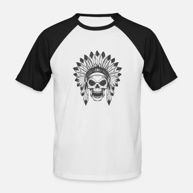 Indian Skull Indian's skull - Men's Baseball T-Shirt