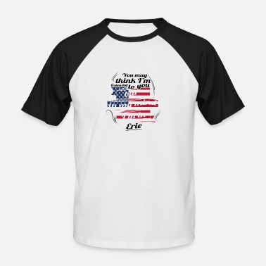 Eris THERAPY HOLIDAY AMERICA USA TRAVEL Erie - Men's Baseball T-Shirt
