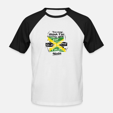 Nain HOLIDAY JAMESICA ROOTS TRAVEL IN Jamaica Nain - Men's Baseball T-Shirt