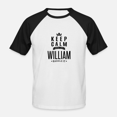 William WILLIAM - Maglia da baseball a manica corta da uomo
