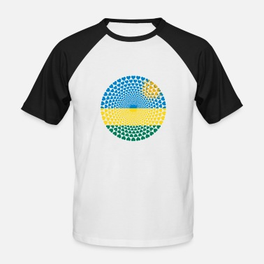 Rwanda Rwanda Rwanda le Rwanda Love Heart Mandala - T-shirt baseball manches courtes Homme