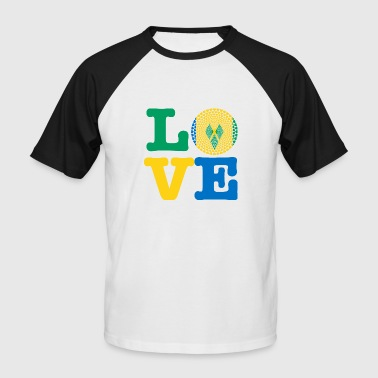 Saint Vincent And The Grenadines ST VINCENT GRENADIN HEART - Men's Baseball T-Shirt