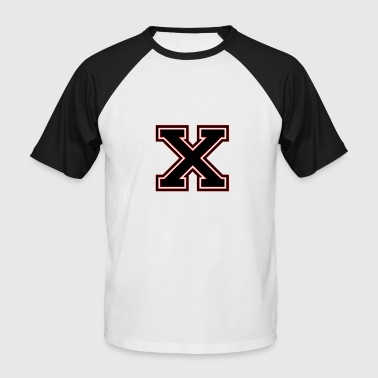 X - T-shirt baseball manches courtes Homme