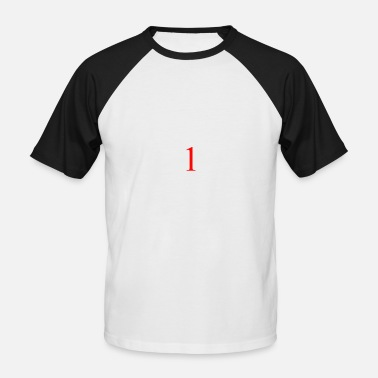 One 1 1 - red - one - red - one - Men's Baseball T-Shirt